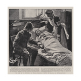 The Care of the Wounded, Sir William Maccormac Visiting the Hospital at Pietermaritzburg Giclee Print by Sydney Prior Hall