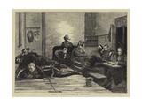 Night in a Guard-Room at Aldershot Giclee Print by Hubert von Herkomer