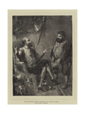 Don Quixote's First Proposals to Sancho Panza Giclee Print by Sir John Gilbert