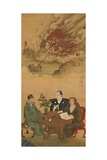 Hanging Scroll Depicting 'A Meeting of Japan, China and the West' Giclee Print by Shiba Kokan