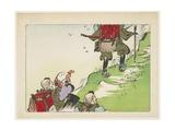 Processional of Pilgrims, C. 1877 Giclee Print by Shibata Zeshin