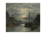 The Saint-Martin Canal at Moonlight; Le Canal Saint-Martin Au Clair De Lune Giclee Print by Stanislas Victor Edouard Lepine