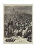 Anxious Times, a Sketch at Treport, France Giclee Print by Hubert von Herkomer
