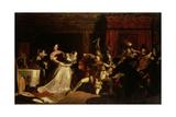 The Murder of David Rizzio, 1833 Giclee Print by Sir William Allan
