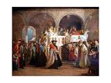 Simchat Torah, Livorno, 1850 Impression giclée par Solomon Alexander Hart
