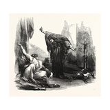 The Death of Front-De-Boeuf Giclee Print by Sir John Gilbert