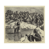A Baptism of North American Indians, Mormons Posing as the Apostles of Christianity Giclee Print by Sydney Prior Hall