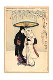 Secchu Aiaigasa Impression giclée par Suzuki Harunobu
