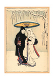 Secchu Aiaigasa Giclee Print by Suzuki Harunobu