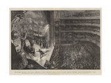 Boxing Night at Old Drury, the House and the Stage Seen from the Uppermost Box Giclee Print by Sydney Prior Hall
