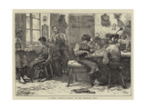 A Wood Carving School in the Bavarian Alps Giclee Print by Hubert von Herkomer