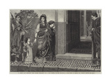 A Roman Lady Returning from Making Purchases Giclee Print by Sir Lawrence Alma-Tadema