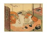 Futon No Naka No Yujo to Kyaku Giclee Print by Suzuki Harunobu
