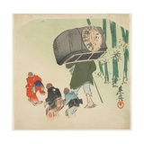 Scene from the Toungue-Cut Sparrow Giclee Print by Shibata Zeshin