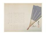 Fan, 1859 Giclee Print by Shibata Zeshin