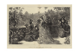 A Sketch at Her Majesty's Garden Party, Buckingham Palace Giclee Print by Sir Samuel Luke Fildes