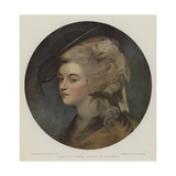 Georgiana Spencer, Duchess of Devonshire Giclee Print by Sir Joshua Reynolds