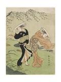 Two Women in High Wind, C. 1767 Giclee Print by Suzuki Harunobu
