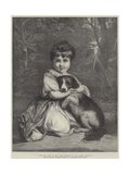 Love Me, Love My Dog, Miss Bowles Giclee Print by Sir Joshua Reynolds