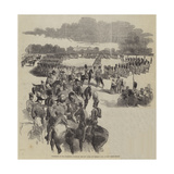Inspection of the Household Troops by Ibrahim Pacha, on Tuesday Last, at the Horse Guards Giclee Print by Sir John Gilbert