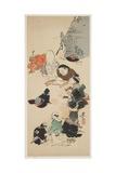Gathering of O Tsu-E Characters Giclee Print by Shibata Zeshin