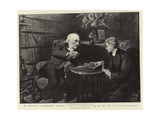 Mr Gladstone at Hawarden, Playing a Game of Backgammon with His Son, the Reverend Stephen Gladstone Giclee Print by Sydney Prior Hall