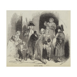 Charity Dinner Giclee Print by Sir John Gilbert