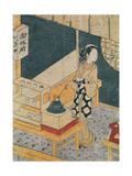 Servant Making Tea Giclee Print by Suzuki Harunobu