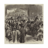 The Queen's Visit to the City, Reception of Her Majesty at the Surrey End of Blackfriars New Bridge Giclee Print by Sir John Gilbert