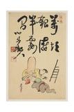 Fukurokuju and Daikoku Gods Giclee Print by Shibata Zeshin