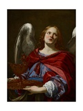 Angels with Attributes of the Passion: Angel Holding the Vessel and Towel for Washing the Hands of Giclee Print by Simon Vouet