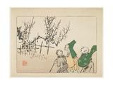 Plum Blossoms, C. 1877 Giclee Print by Shibata Zeshin