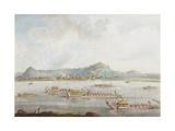 The Nawab of Murshidabad's Boats on the Ganges, 1814 Giclee Print by Sita Ram