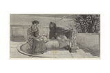 An Old Story Giclee Print by Sir Lawrence Alma-Tadema