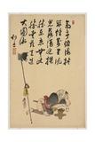 Spear Holder Giclee Print by Shibata Zeshin