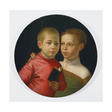 Double Portrait of a Boy and Girl of the Attavanti Family, C.1580 Giclee Print by Sofonisba Anguissola