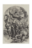 Saint George's Day, England's Tutelary Patron, Fair St George Giclee Print by Sir John Gilbert