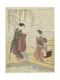 Women Disembarking from a Boat, C. 1767 Giclee Print by Suzuki Harunobu