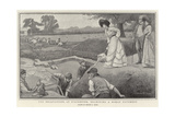 The Excavations at Silchester, Examining a Roman Pavement Giclee Print by Stuart G. Davis