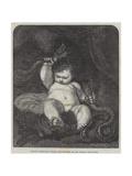 Infant Hercules Wydruk giclee autor Sir Joshua Reynolds