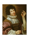 Young Man with a Fig, C.1620-30 Giclee Print by Simon Vouet
