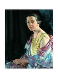 Mrs Thomas Howarth, 1926 Gicléetryck av Sir William Orpen