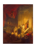Reading of the Law in a Synagogue Giclee Print by Solomon Alexander Hart