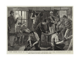 The Green Room of the Turf, Officers Dressing for the Punchestown Races Giclee Print by Sydney Prior Hall