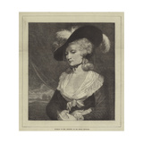Portrait of Mrs Robinson Giclee Print by Sir Joshua Reynolds