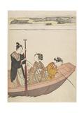 Fishing Near Mimeguri Shrine on the Sumida River, C. 1767 Giclee Print by Suzuki Harunobu