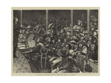 A Sketch at a Concert Given to the Poor Italians in London Giclee Print by Hubert von Herkomer