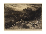 Harlech, No. II, 1880 Giclee Print by Sir Francis Seymour Haden