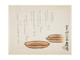 Brown Earthenware Basins, 1887 Giclee Print by Shibata Zeshin