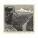 Nearing the Rockies, the Grand Prospect from the End of the Train Giclee Print by Sydney Prior Hall